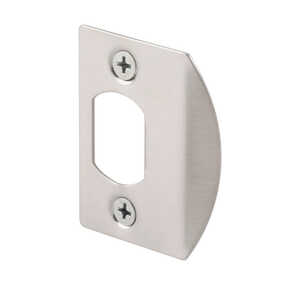 Prime-Line Door Strike 2.25 in. x 1.44 in. x 0.47 in. Satin Nickel Steel Used on Wood Door Jambs 2/C