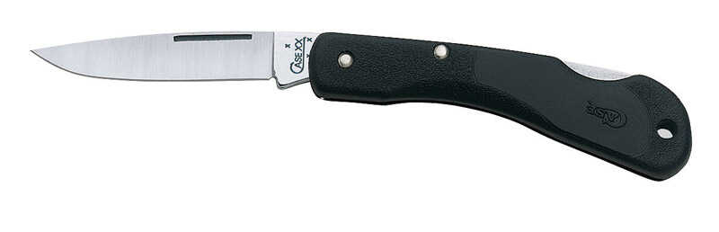 Case  Mini Blackhorn  Black  Stainless Steel  3.13 in. Knife