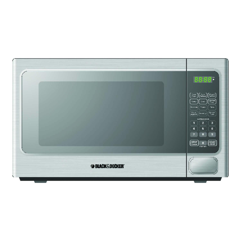 Black Decker 1 1 Cu Ft 1000 Watt Microwave Oven: Black & Decker Microwave 1.1 Cu. Ft. 1,000 Watts Stainless