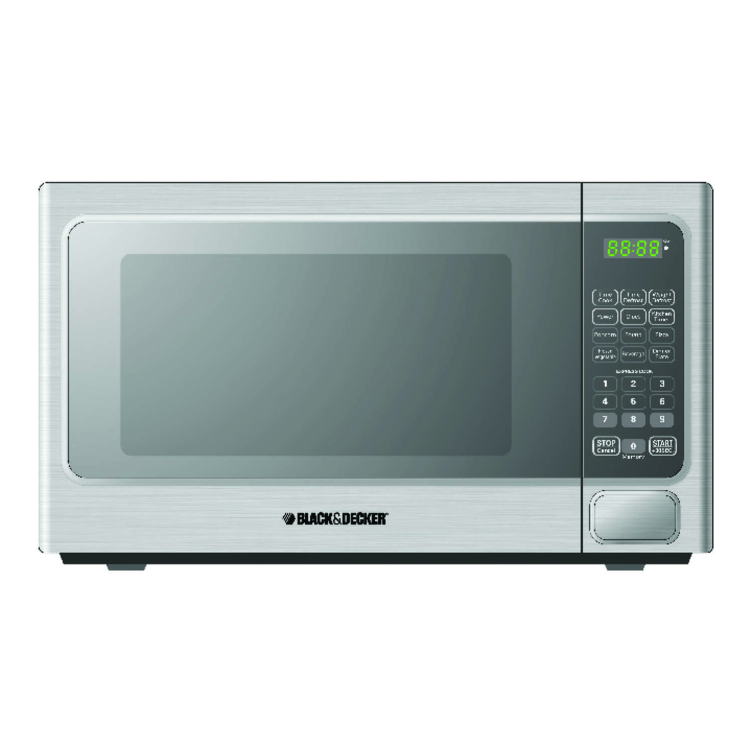 Black and Decker  1.1 cu. ft. Metallic  Microwave  1000 watt