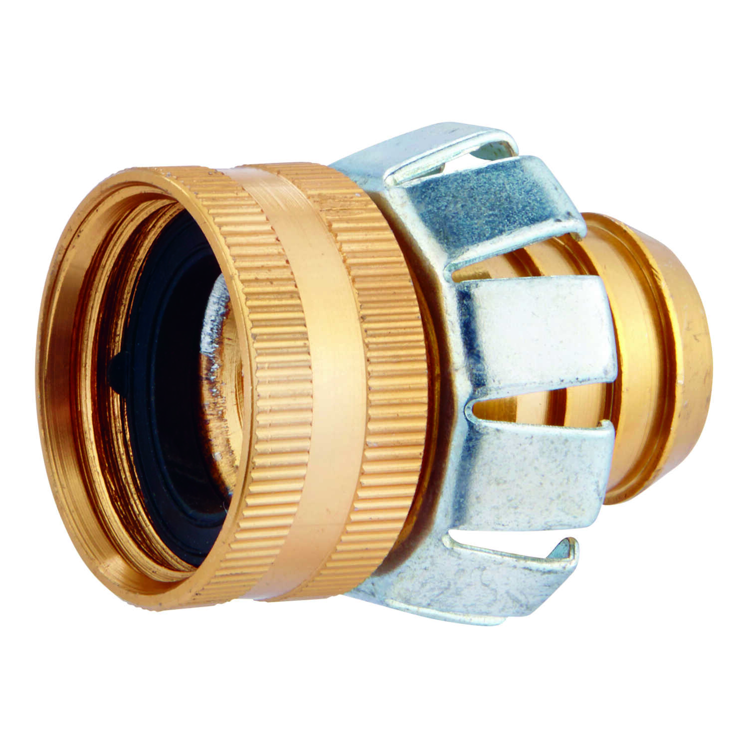 Ace  3/4 in. Metal  Threaded  Female  Clinch Hose Mender Clamp