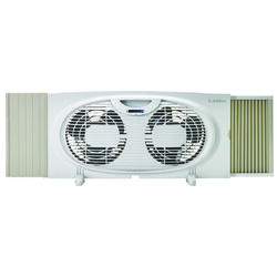 Lasko  10.15 in. H x 7 in. Dia. 2 speed Twin Window Fan