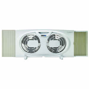 Lasko  10.15 in. H x 7 in. Dia. 3 speed Twin Window Fan