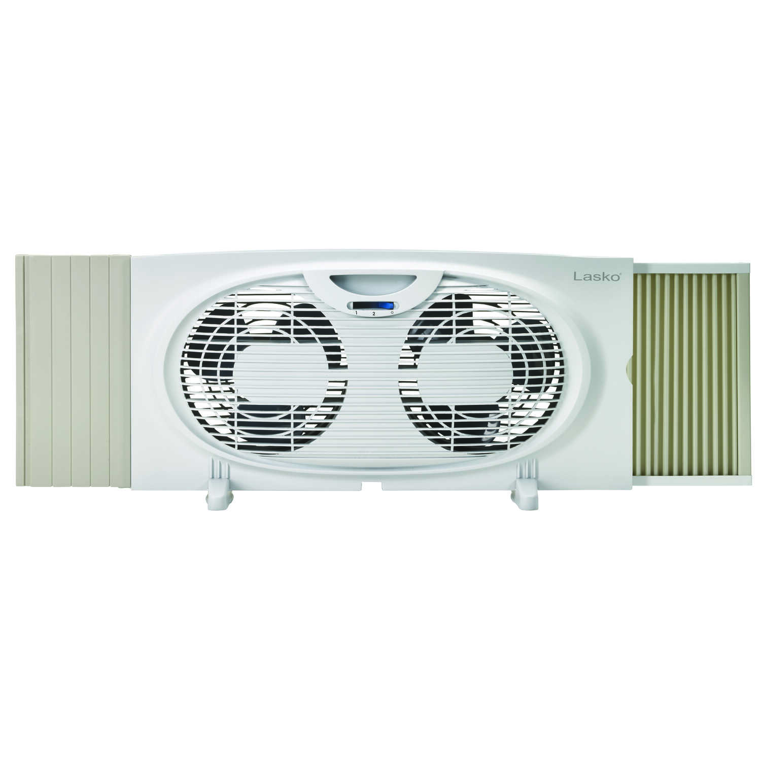 Lasko  10.15 in. H x 7 in. Dia. 3 speed Electric  Twin Window Fan