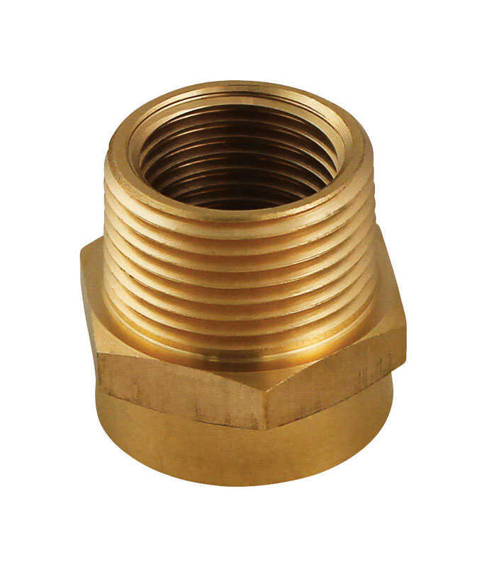 Plumb Pak  Brass  Hose Adapter  3/4 in. 3/4 in. Dia.