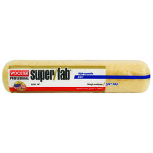 Wooster  Super/Fab  Knit  3/4 in.  x 14 in. W Regular  Paint Roller Cover  1 pk