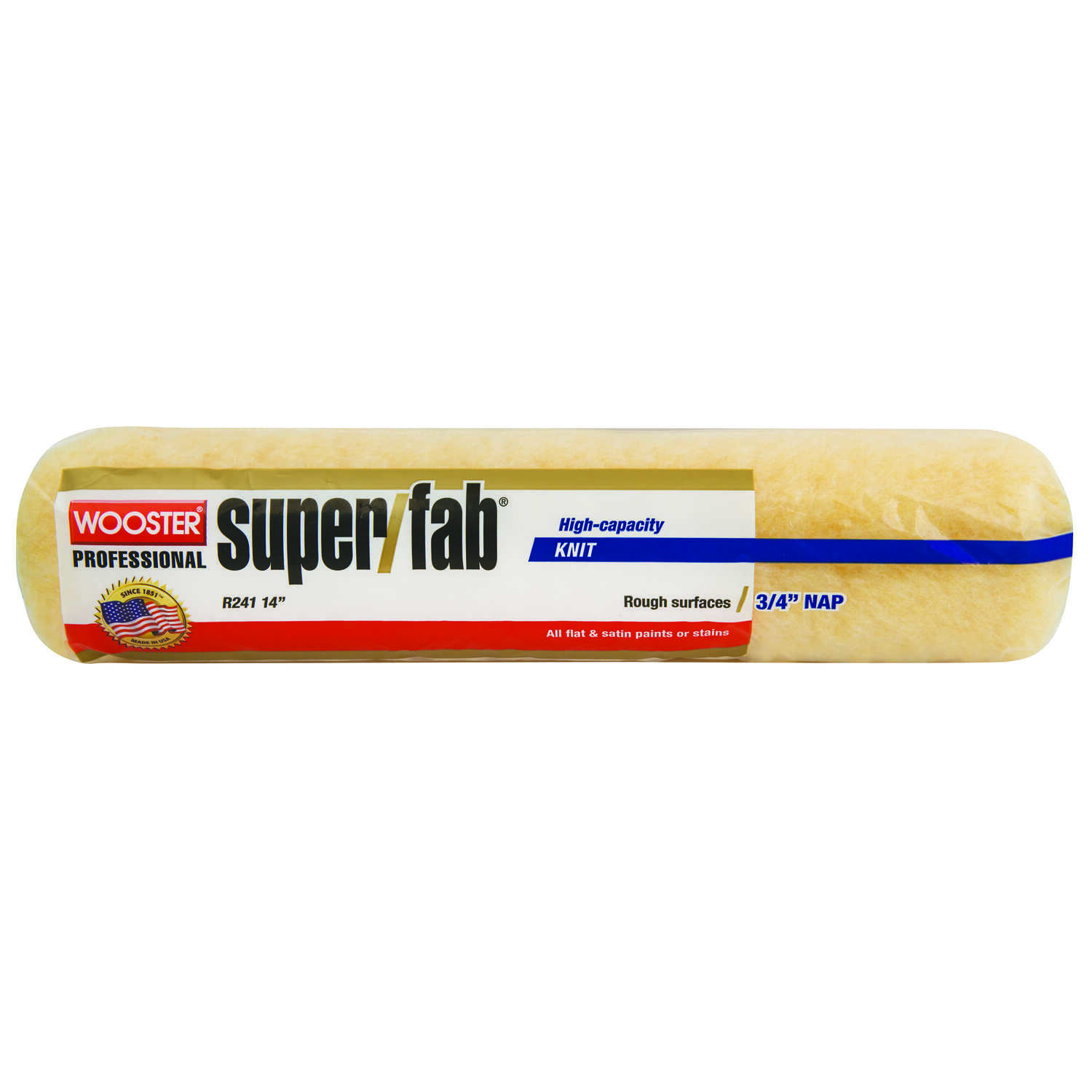 Wooster  Super/Fab  Knit  3/4 in.  x 14 in. W Regular  Paint Roller Cover  For Rough to Semi-Rough S