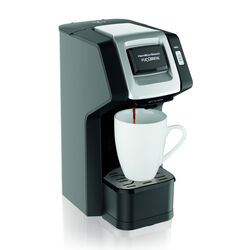 Hamilton Beach FlexBrew 10-14 oz. Black/Silver Single Serve Coffee Maker