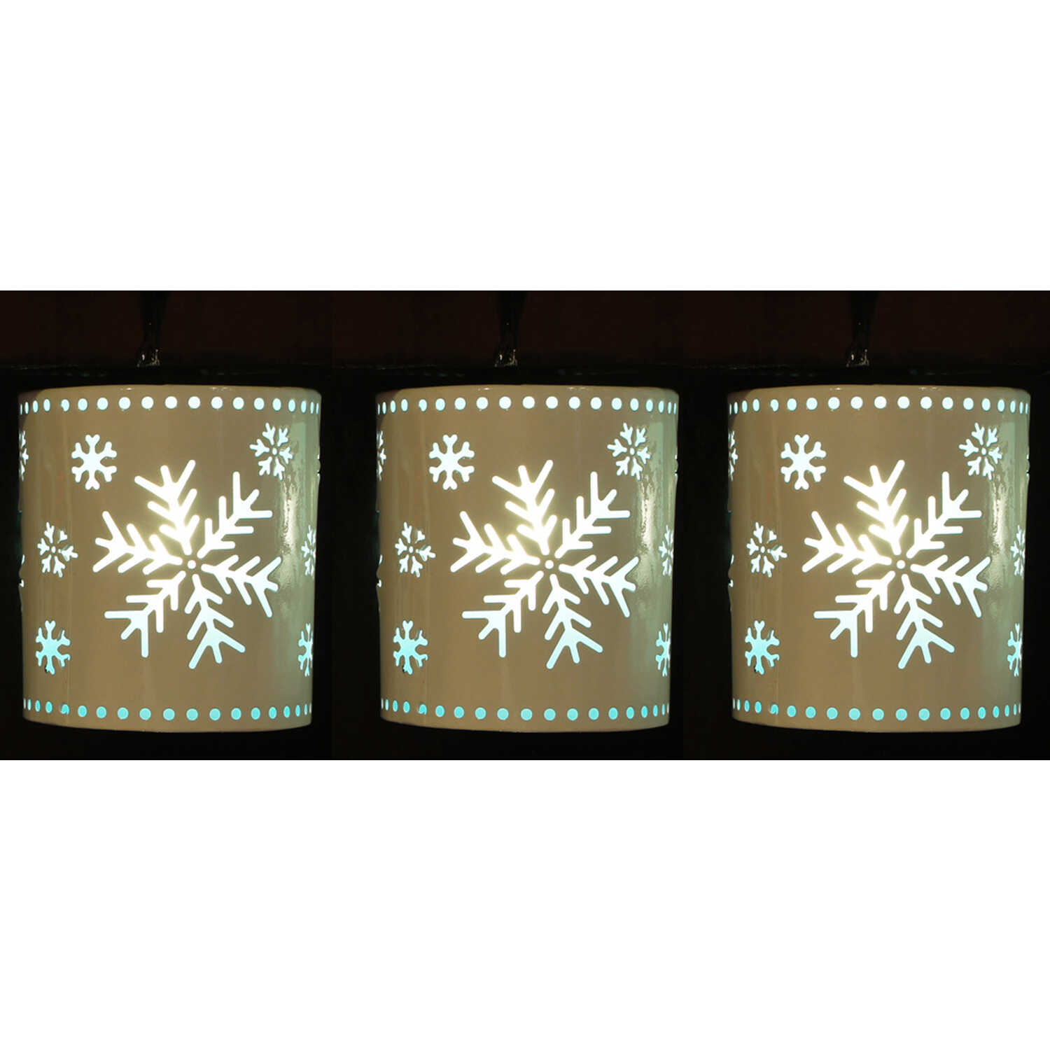 Sienna  Snowflake Lantern  Christmas Decoration  Tan  Metal  1 pk