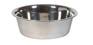 Hilo  Silver  Plain  Stainless Steel  12 cups Pet Dish  For Dog