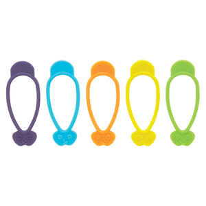 Harold Import  Assorted  Silicone  Bag Ties  10 pk