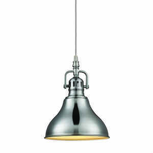 Globe  Brushed Nickel  Metallic  1 lights Pendant Light