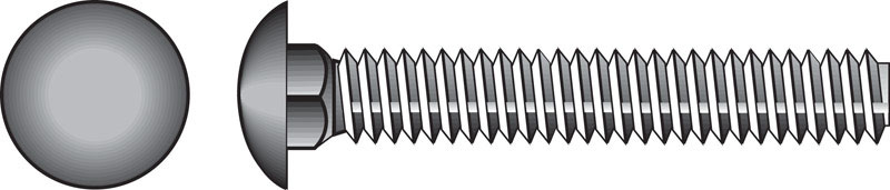 HILLMAN  3/8  Dia. x 2-1/2 in. L Zinc-Plated  Steel  Carriage Bolt  50 pk