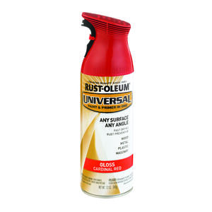 Rust-Oleum  Universal Paint & Primer in One  Gloss  Cardinal Red  Spray Paint  12 oz.