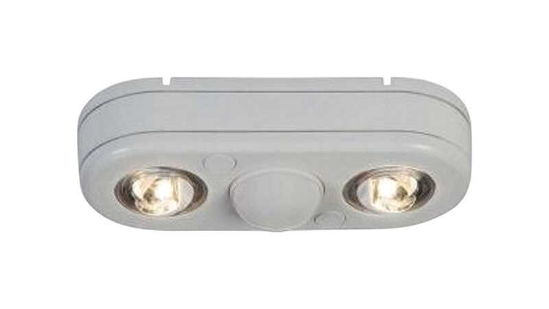 All-Pro  Revolve  Motion-Sensing  180 deg. LED  White  Outdoor Floodlight  Hardwired