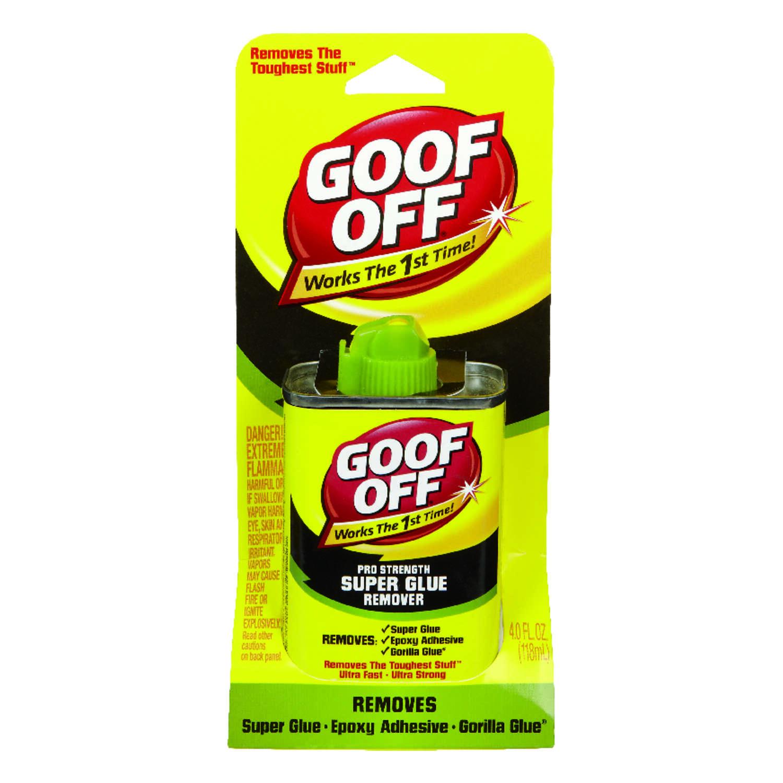 Goof Off Liquid Adhesive Remover 4 oz. - Ace Hardware