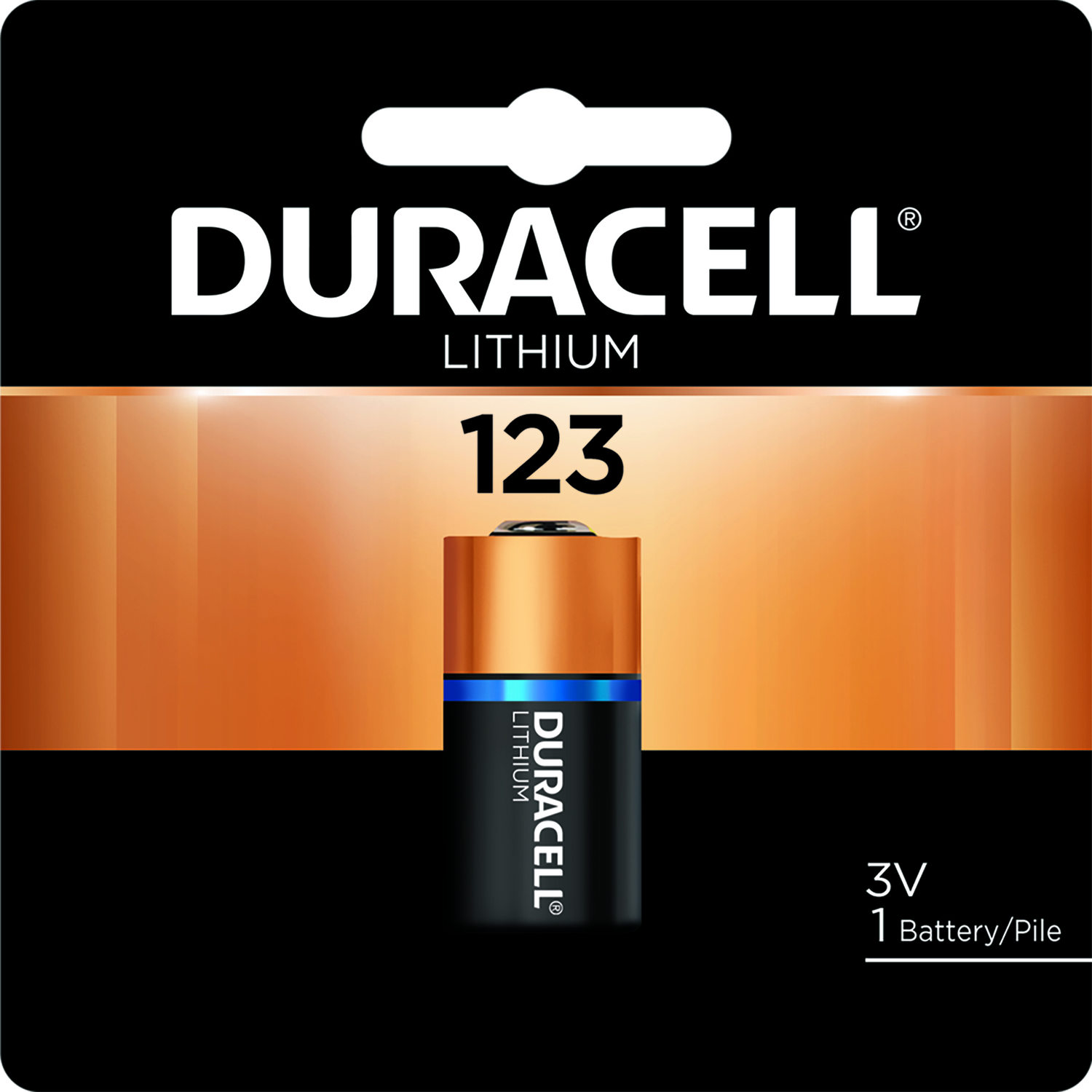 Duracell  Lithium  123  Camera Battery  DL123ABPK  1 pk