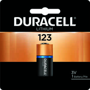 Duracell  Lithium  123  3 volt Camera Battery  DL123ABPK  1 pk