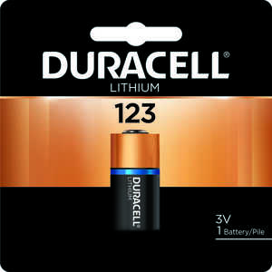 Duracell  Lithium  123  3 volt 1 pk Camera Battery  DL123ABPK