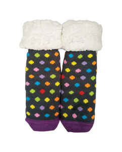 Pudus  Polka Dotted  Slipper Socks  Acrylic/Polyester  1 pair