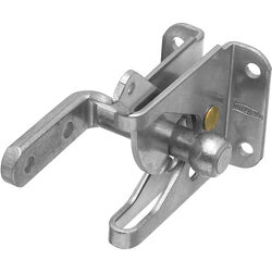 National Hardware  Zinc-Plated  Silver  Steel  Automatic  Gate Latch