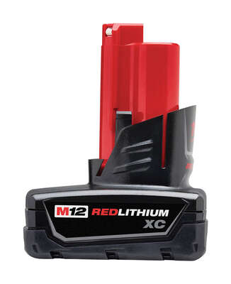 Milwaukee  M12 REDLITHIUM  XC  12 volt 3 Ah Lithium-Ion  High Capacity Battery Pack  2 pc.