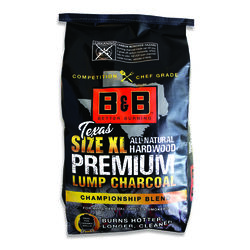 B&B Charcoal Texas XL Premium All Natural Championship Blend Lump Charcoal 24 lb.