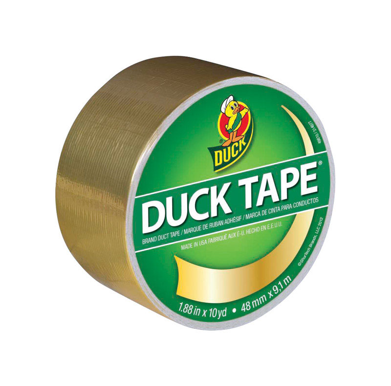 Duck Brand  30 ft. L x 1.88 in. W Gold  Duct Tape