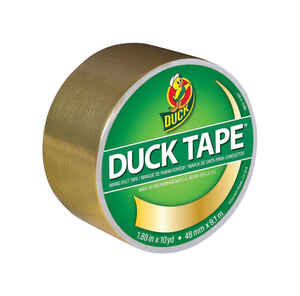 Duck  1.88 in. W x 10 yd. L Gold  Solid  Duct Tape
