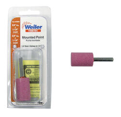 Weiler  Vortec  1-1/4 in. Dia. x 0.25 in. L Aluminum Oxide  Stem Mounted Point  Cylinder  28000 rpm