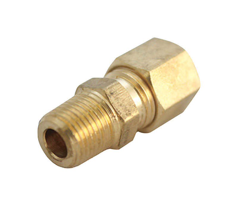 ACE  1/4 in. Compression   x 3/8 in. Dia. Male  Brass  Compression Adapter