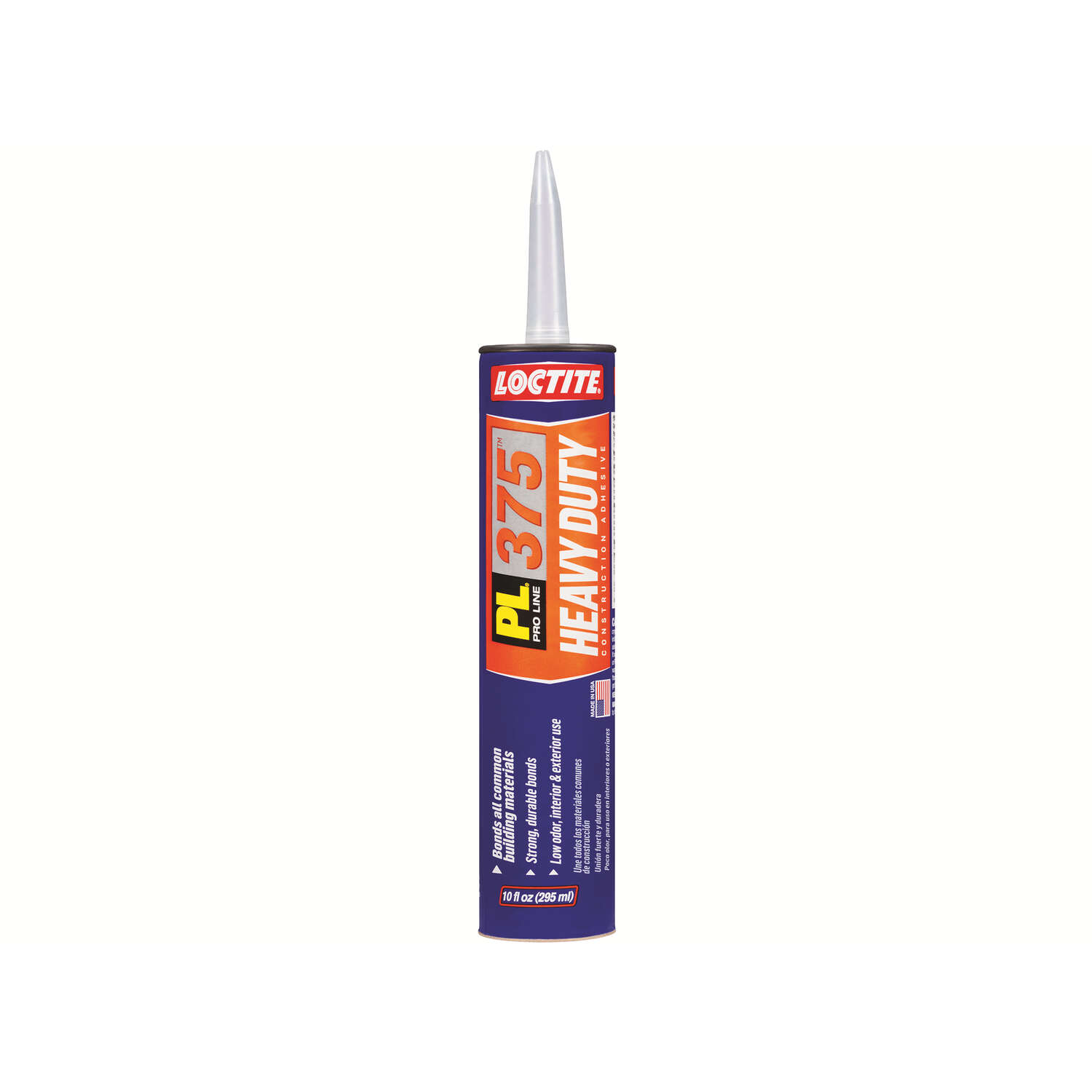Loctite  PL 375  Synthetic Elastomeric Polymer  Construction Adhesive  10 oz.