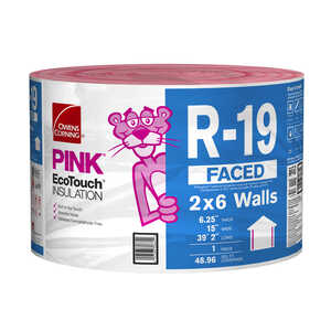 Owens Corning  15 in. W x 470  L R-19  Kraft  Insulation  Roll  48.96 sq. ft.