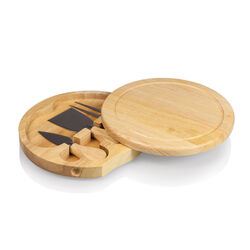 Picnic Time 7.5 in. L x 7.5 in. W x 1.2 in. Rubberwood Cheese Board
