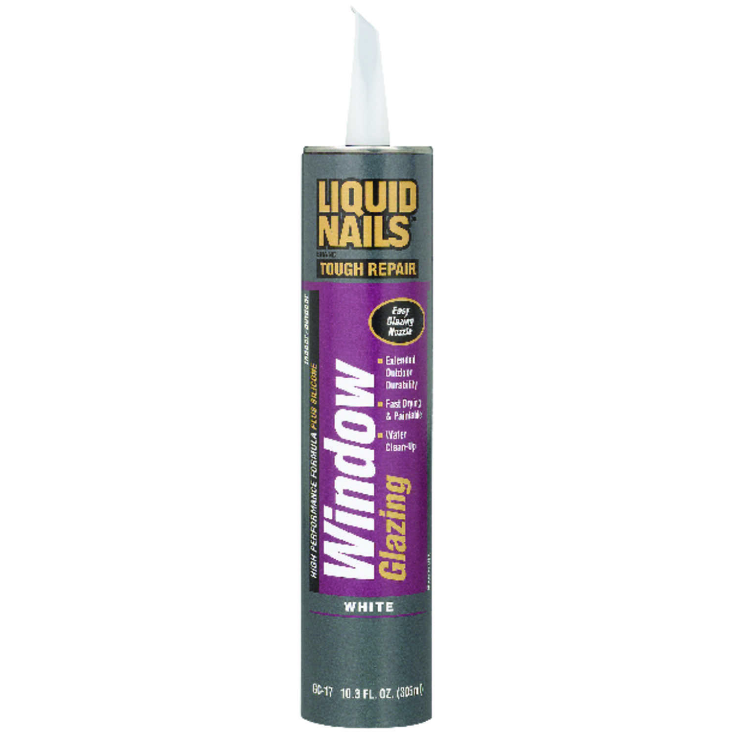 Liquid Nails  White  Siliconized Acrylic  Sealant  10 oz.