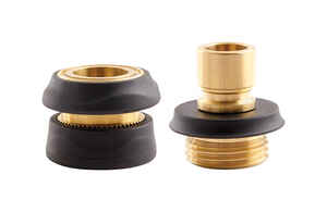 Gilmour  Brass  Male/Female  Quick Connector Faucet Set