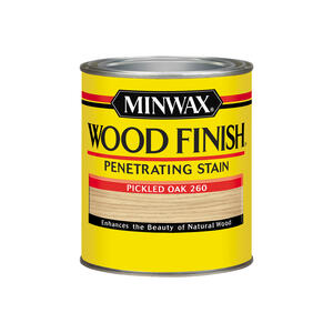 Minwax  Wood Finish  Semi-Transparent  Pickled Oak  Oil-Based  Wood Stain  1 qt.