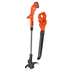 Black and Decker  Battery Powered  Battery  Cordless  String Edger/Trimmer plus Sweeper Combo Kit  S
