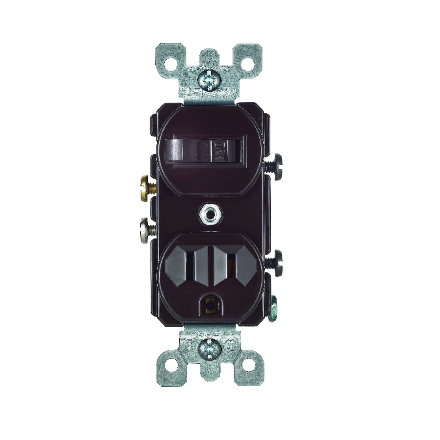Leviton  15 amps Combination  1 pk Brown  Switch