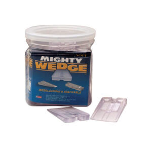 Mighty Wedge  1.125 in. W Plastic  Plastic Shims  25 pk