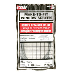Prime-Line  0.12 in. Dia. x 25 in. L Screen Spline