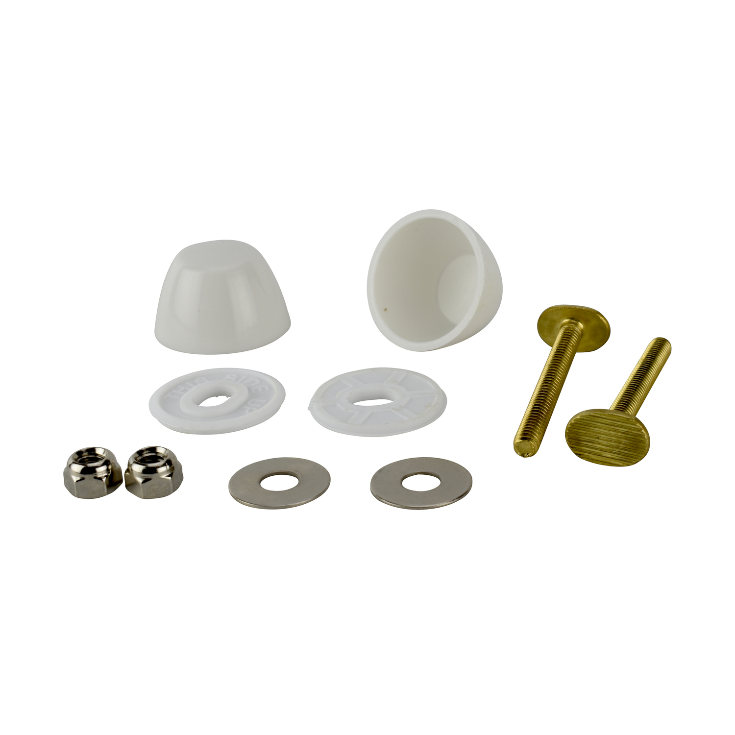 Ace  Toilet Bolt Set  1/4 in. H x 2-1/4 in. L Brass/Plastic