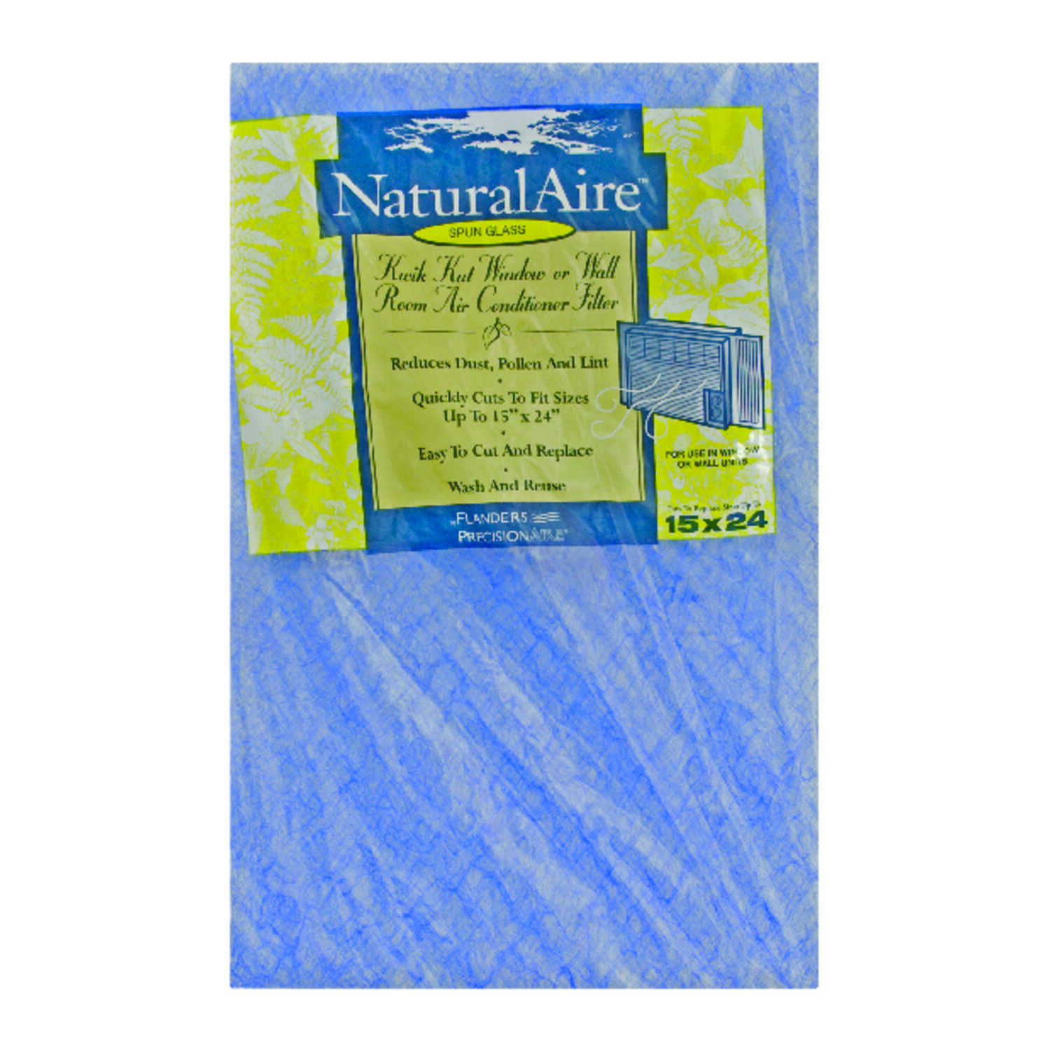 AAF Flanders  NaturalAire  24 in. H x 15 in. W x 1/2 in. D Fiberglass  Air Conditioner Filter