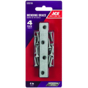 Ace  4 in. H x 0.625 in. W x .73 in. L Galvanized  Steel  Mending Brace