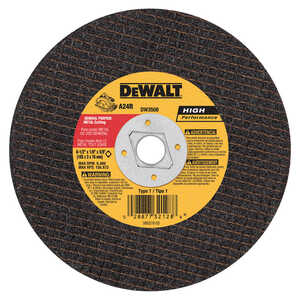 DeWalt  High Performance  6-1/2 in. 5/8 in. in.  Aluminum Oxide  Metal Cutting Saw Blade  1 pc.