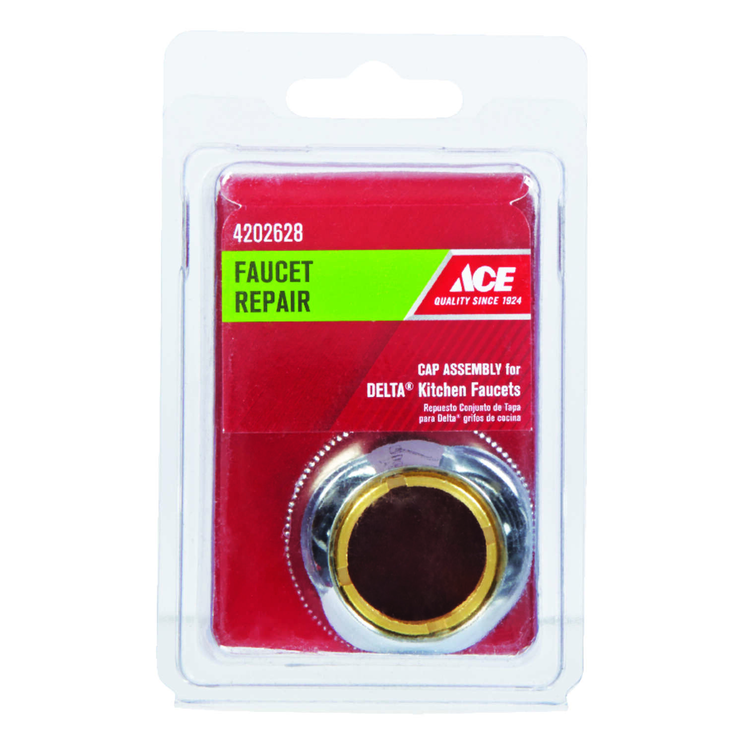 Ace  Brass  Cap  For Delta 1 pack