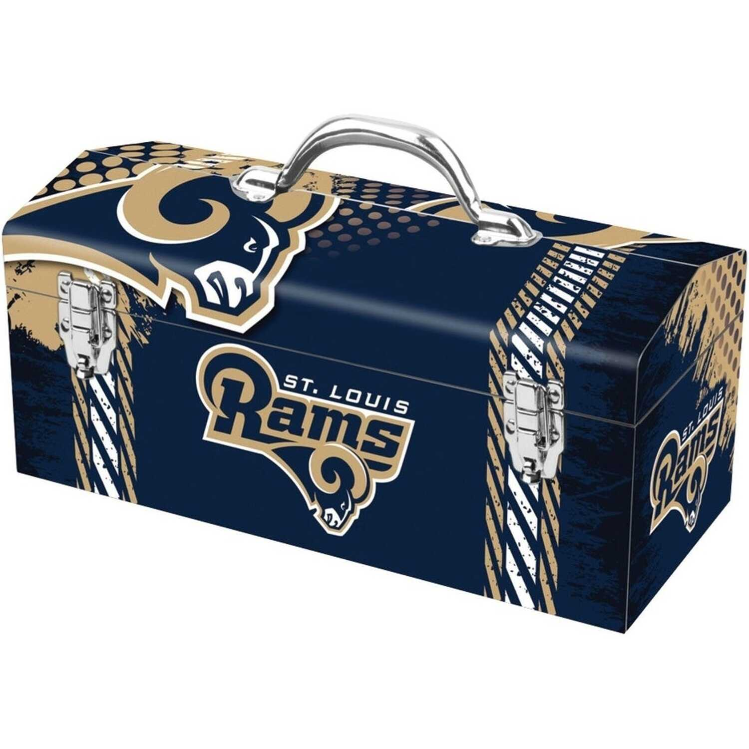 Sainty International  16.25 in. Steel  Los Angeles Rams  Art Deco Tool Box  7.1 in. W x 7.75 in. H