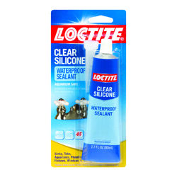 Loctite  Clear Silicone  Medium Strength  Liquid  Waterproof Sealant  2.7 oz.
