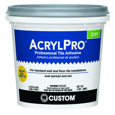Custom Building Products AcrylPro Ceramic Tile Adhesive 1 qt.