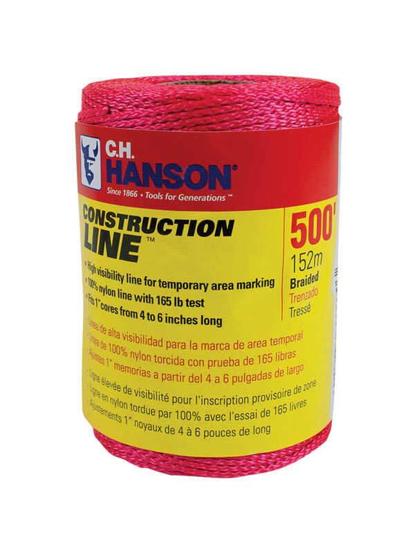 C.H. Hanson  Construction Line  Pink  Braided  Chalk Line Refill  500 ft.